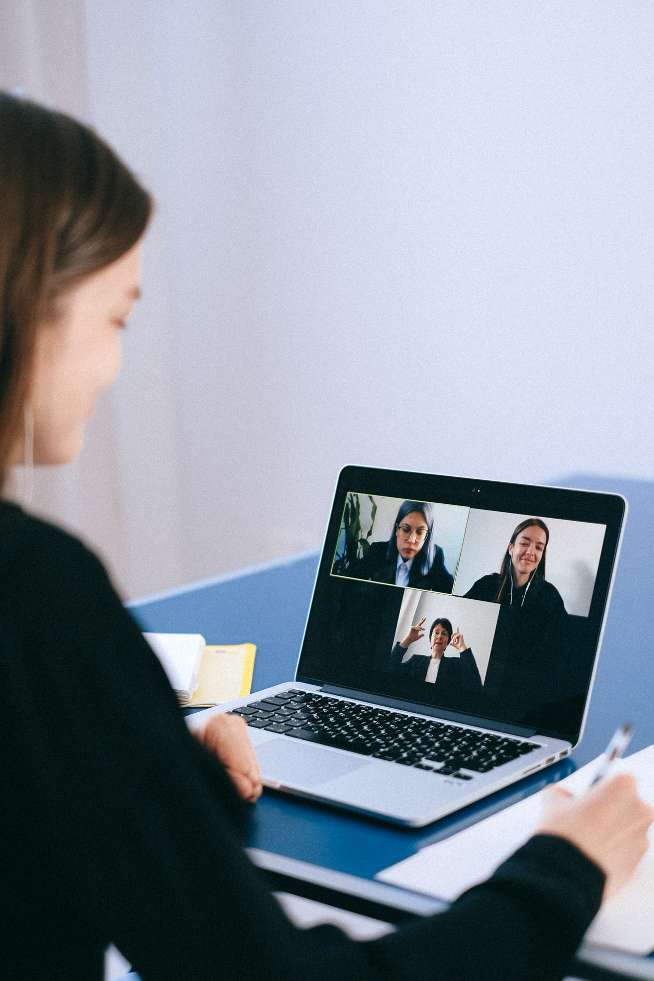 girl during remote recruitment process